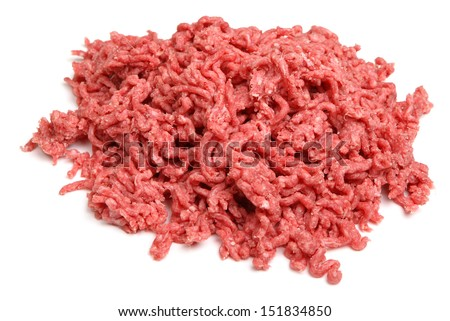 Raw ground beef mince. - stock photo