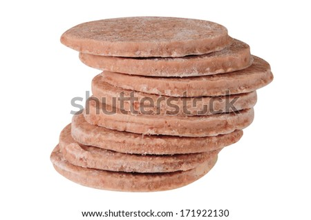 Raw Hamburger. - stock photo
