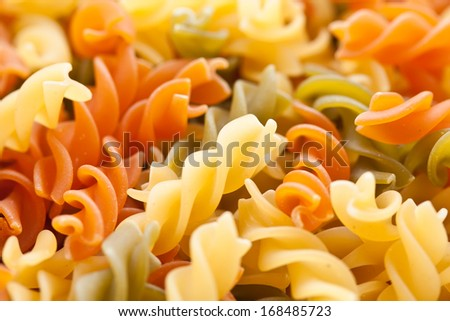 Raw italian pasta can be used as background