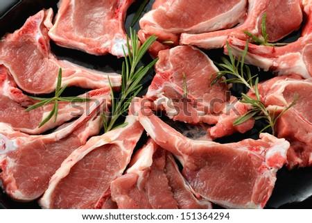 Lamb shoulder chop stock images royalty free images vectors raw lamb chops publicscrutiny Image collections