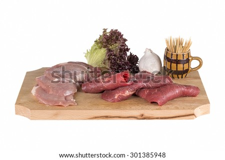 Raw meat uncooked - stock photo