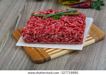 Raw Minced beef meat - ready for cooking - stock photo