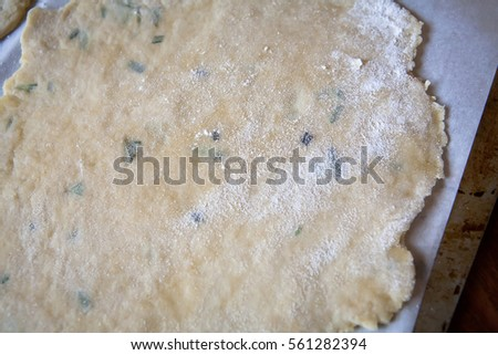 Raw Olive Oil and Herb Pastry Dough