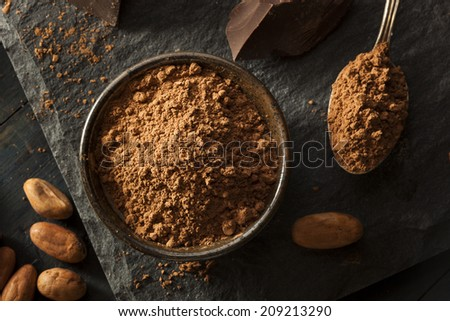 Raw Organic Cocoa Powder Used For Baking - stock photo