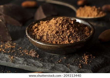 Raw Organic Cocoa Powder Used For Baking - stock photo