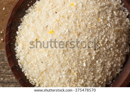 Raw Organic Dry Grits Ready to Cook