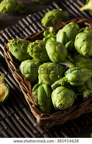 Raw Organic Green Baby Artichokes Ready to Eat