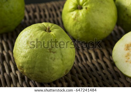 Raw organic yellow guava fruit ready stock photo 541940779 raw organic green large guava ready to eat ccuart Gallery