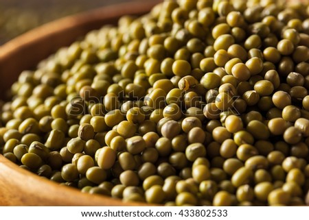 Raw Organic Green Mung Beans in a Bowl