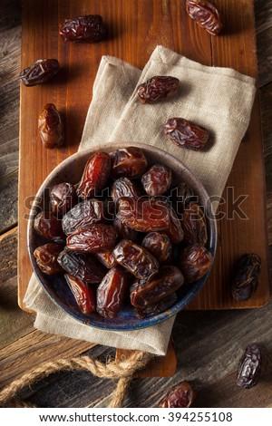 Raw Organic Medjool Dates Ready to Eat - stock photo