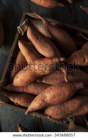 Raw Organic Sweet Potatoes in a Box