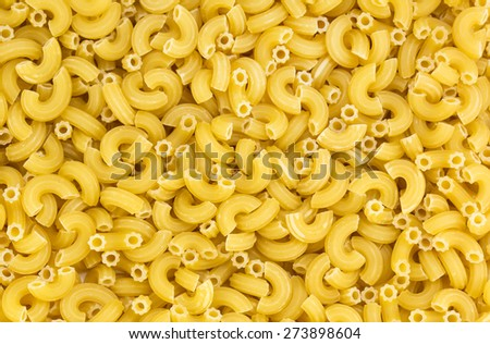 raw pasta background close up - stock photo