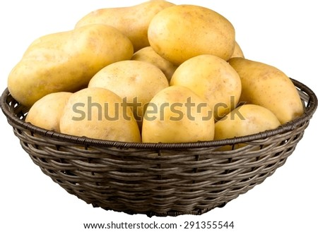 Raw Potato, Food, Carbohydrate.