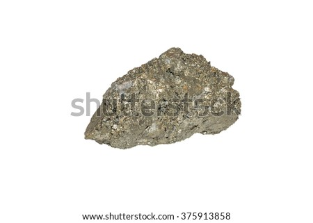 Raw Pyrite aka Fool's Gold from China isolated - stock photo