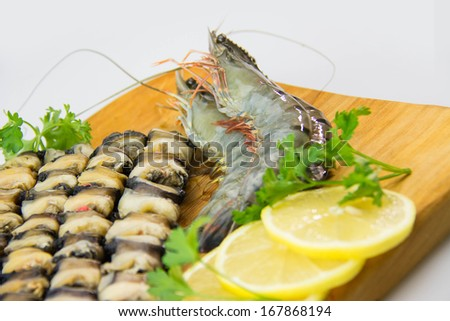 Raw seafood - stock photo