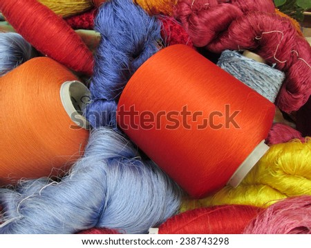 Raw silk thread