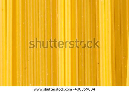 Raw spaghetti strands - stock photo