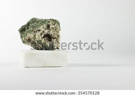 Raw Stone, Isolated on a white background - stock photo