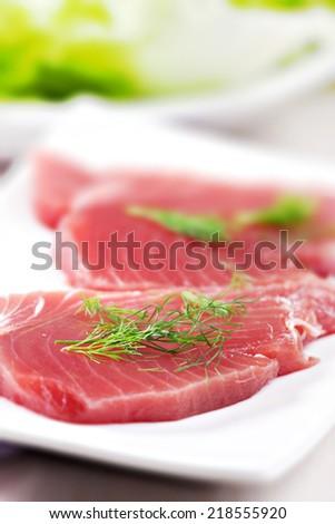 Raw tuna - stock photo