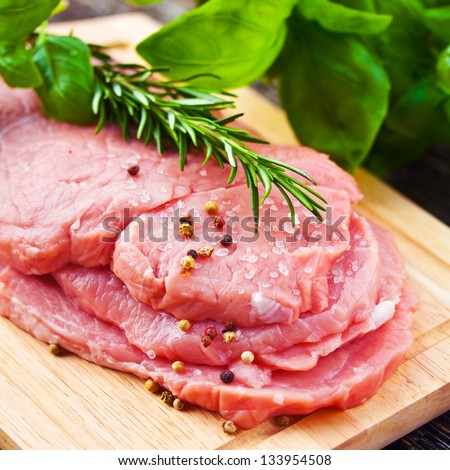 Raw Veal Meat - stock photo