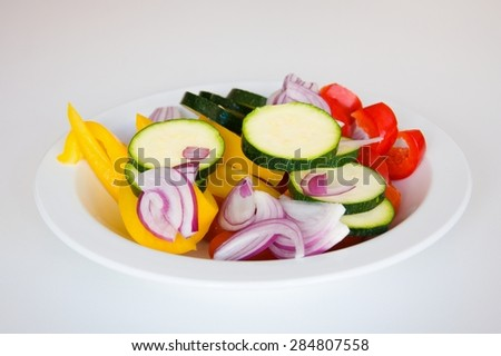 Raw vegetable for grill - stock photo