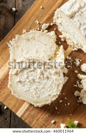 Raw White Organic Goat Cheese Ready for Cooking
