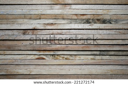 Raw wood, wooden slatted  - stock photo