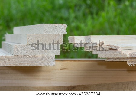 raw wooden boards, sawmill product