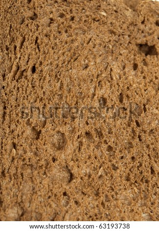 Ray bread whole bread texture closeup background.