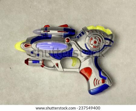 ray gun toy  - stock photo