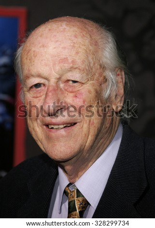 "Ray Harryhausen attends the World Premiere of ""The Nightmare Before Christmas 3D"" held at the El Capitan Theatre in Hollywood, California on October 16, 2006."