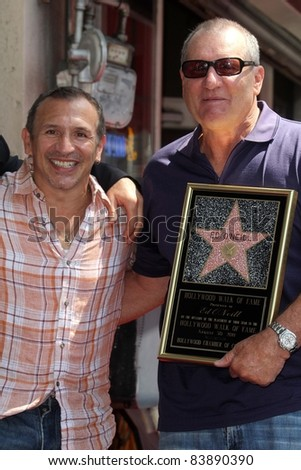 Ray Mancini, Ed O'Neill at the Ed O'Neill Hollywood Walk Of Fame Induction Ceremony, Hollywood, CA. 08-30-11 - stock photo