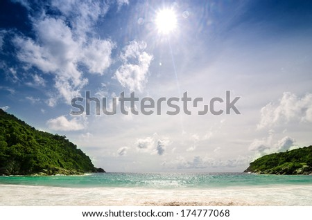Raya Island Phuket in southern Thailand - stock photo
