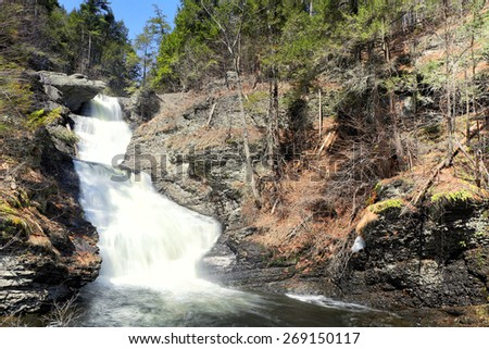 Raymondskill Falls is a waterfall located in Dingmans Ferry in Delaware Township