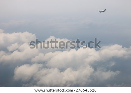 RAYONG , THAILAND- MAR 28 2015: Cessna 208 Caravan no.1918 of KASET , Bureau of Royal Rainmaking and Agricultural Aviation. Take off and landing at U-TAPAO Airport, Rayong - stock photo
