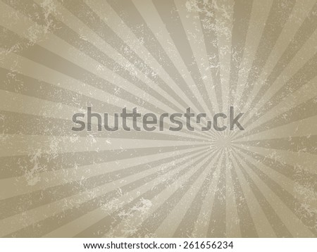 rays grungy light  brown pattern - stock photo