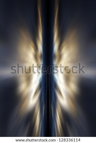 Rays of light against a dark blue background - stock photo