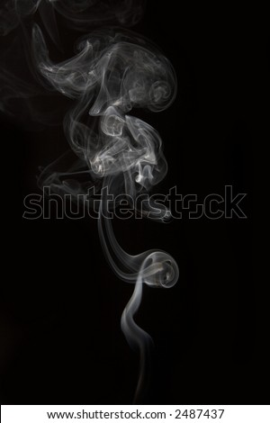 Rays smoke abstract in black background - stock photo