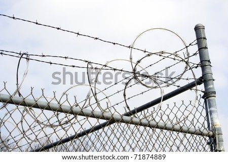 Razor Wire on Chain Link Fence