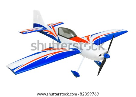 RC plane isolated on white background - stock photo