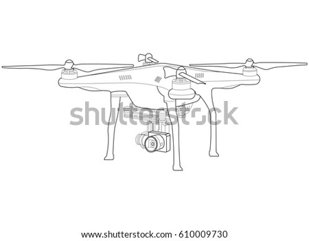 Rc Quadcopter Drone Stock Illustration 610009730