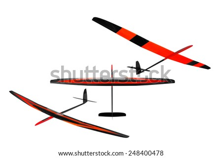 RC soaring plane - stock photo