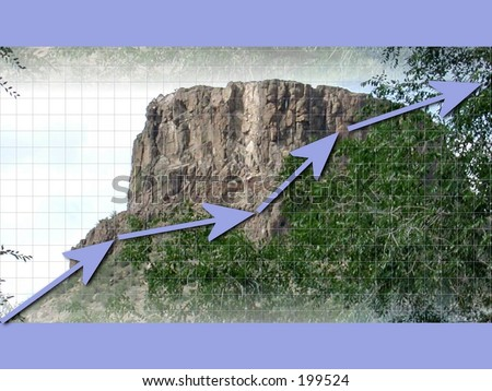 Reach your peak graph .Look for more matching elements in my gallery . - stock photo