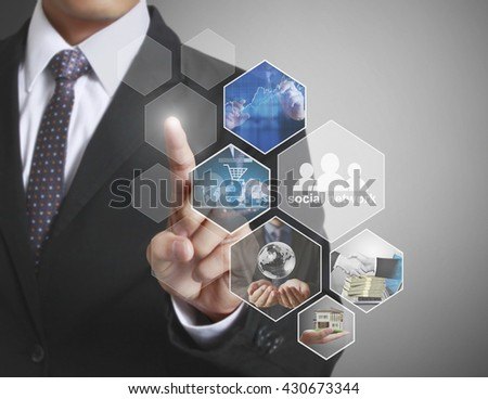 Reaching images streaming, digital photo - stock photo