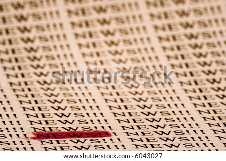 Read All About It!!! - stock photo