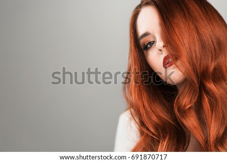 Readhead stock images royalty free images vectors shutterstock readhead woman beauty studio portrait on gray background voltagebd Images