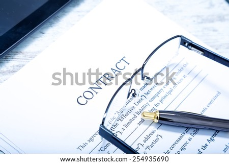Reading a Contract before signing