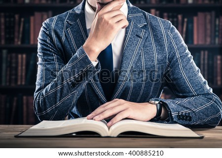 Reading and men - stock photo