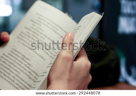 reading book is make people perfect - stock photo