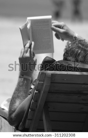 Reading book Monochrome abstract
